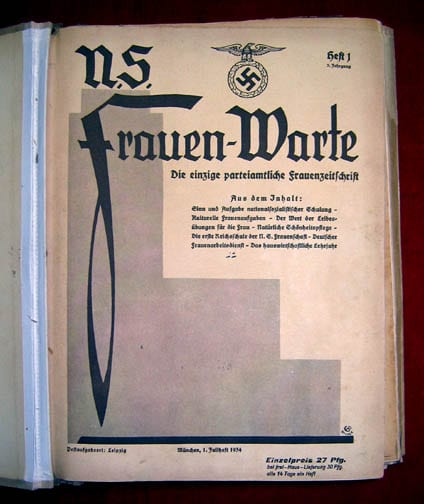 1933/1934 SET OF THE NS-FRAUENWARTE PERIODICAL