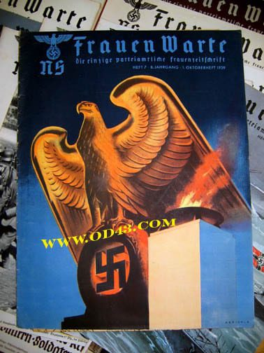 SET OF 23 1939/1940 ISSUES OF THE NS-FRAUENWARTE PERIODICAL