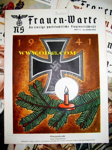 SET OF FIFTEEN 1941/1942 ISSUES OF THE NS-FRAUENWARTE PERIODICAL