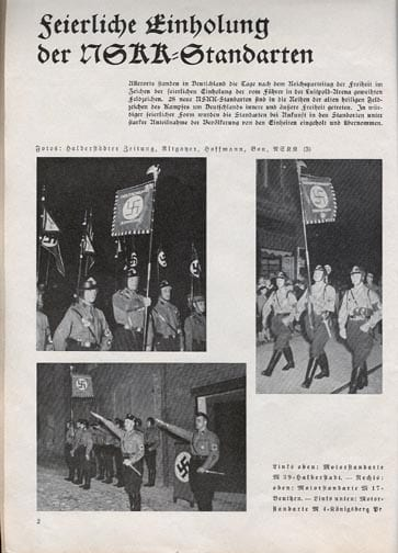 1935 ISSUE OF THE RARE OFFICIAL NSKK PHOTO PERIODICAL