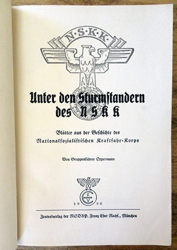 1936 PHOTO BOOK ON THE HISTORY OF THE NSKK