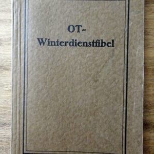 1942 ORGANISATION TODT WINTER SERVICE GUIDE