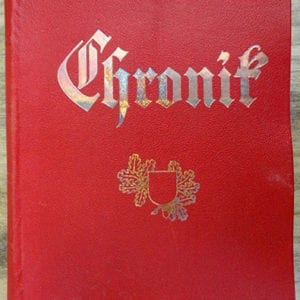 RARE ORIGINAL THIRD REICH CHRONICLE FOR THE NAZI COMMUNITY