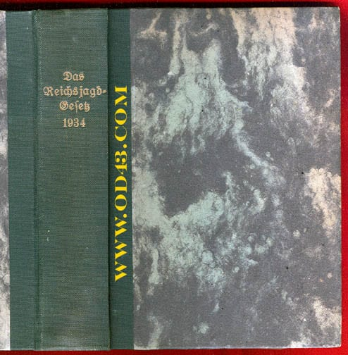 THE COMPLETE 1938 NAZI HUNTING LAWS IN ONE 400 PAGES BOOK