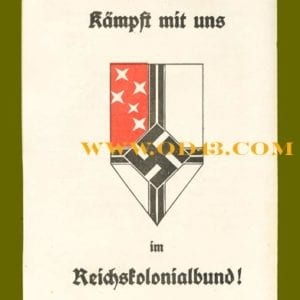 PAMPHLET OF THE NAZI REICH COLONIAL LEAGUE