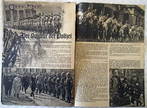 PERIODICAL FOR SUPPORTERS OF THE SS / 1938 HITLER ARRIVES IN VIENNA ISSUE