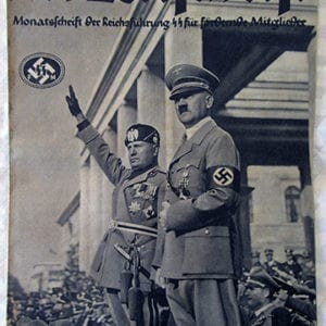 PERIODICAL FOR SUPPORTERS OF THE SS / 1937 MUSSOLINI'S GERMANY VISIT ISSUE