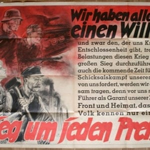 NAZI WAR AND VICTORY AT ALL COST PROPAGANDA POSTER