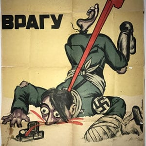 RUSSIAN ANTI-NAZI POSTER FROM 1942