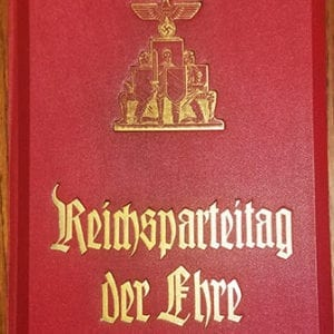 THIRD REICH STEREOSCOPY BOOK ON THE REICH PARTY DAYS IN NUREMBERG 1936