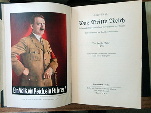 8 VOLUME HALF LEATHER SET OF OFFICIAL NSDAP YEARBOOKS