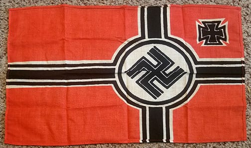 SMALL THIRD REICH BATTLE FLAG